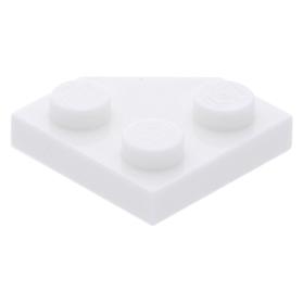 LEGO PART 15706 PLATE 2 X 4 A SHAPE BLACK X 3 PCS