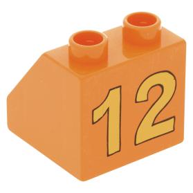 Lego 4 Medium Blue 2x1 slopes 45 degree brick block NEW