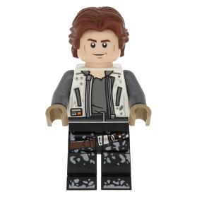 Lego Minifig White Dress, Detailed Belt, Crooked Smile - sw0994 Princess Leia