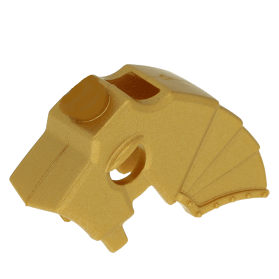 LEGO part 89524 - Metallic Gold Horse Battle Helmet, Stud on Top and 3 Neck  Plates (Unicorn) at BrickScout