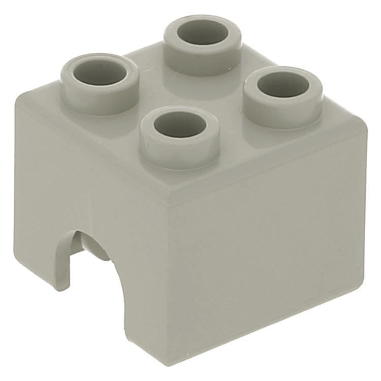 Lego Technic 2 x 2 Engine Piston Square 3652 Light Gray