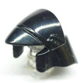 Headgear Wizard Hat w// Silver Buckle LEGO Minifig Skull /& Lightning Bolt
