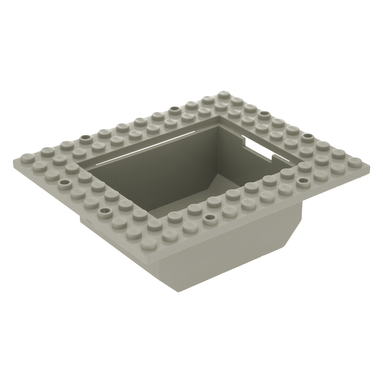 LEGO Part 2374 Container Boat Cargo Loading Plate 10 x 12 with 6 x 8 Tub GREY