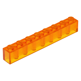 LEGO PART 3065 TRANS RED BRICK 1 X 2 WITHOUT BOTTOM TUBE NEW X 10 PCS