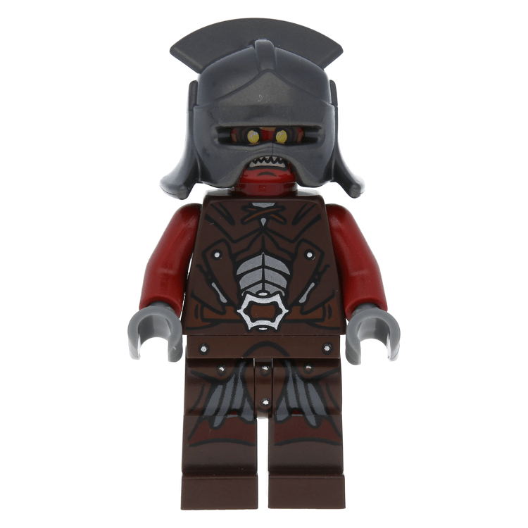 lor007 Lord of the Rings Uruk-Hai in Helmet - Lego Mini Figure
