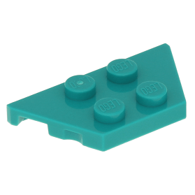 LEGO 4 Cycle Pierres 2 x 2 in transparent turquoise