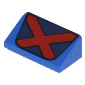 LEGO x 10 White Tile 2 x 2 with Classic Space Logo on Red and Blue Background