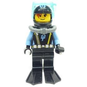 AQUAZONE AQU006a MINIFIGURE Aquashark 1 with Black Flippers LEGO