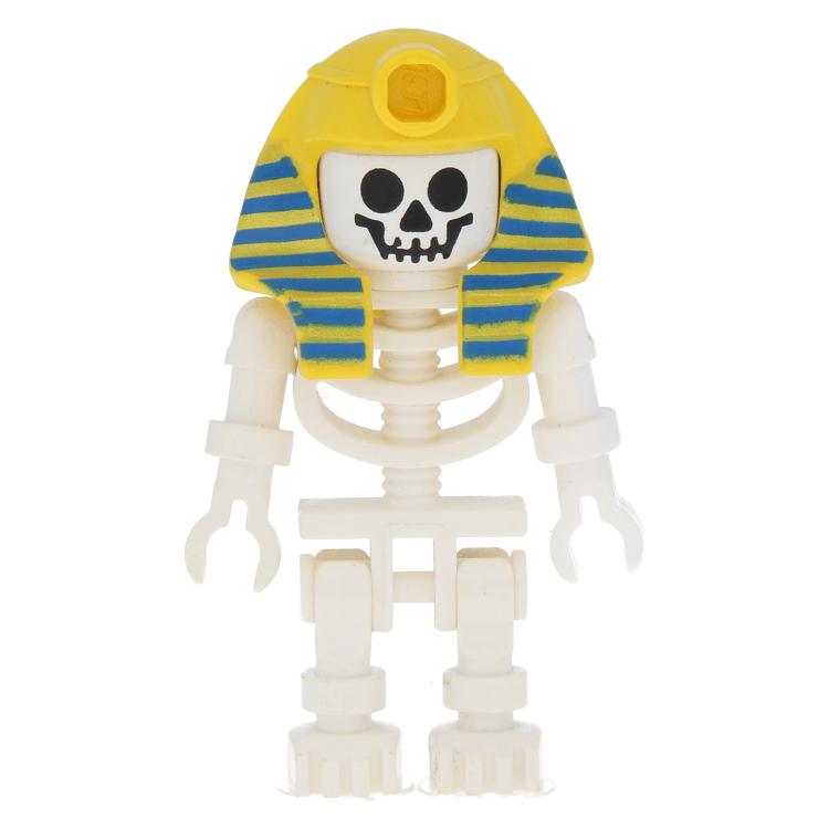 ☀️ LEGO™ White Minifigure Head Skull Standard Pattern Genuine New