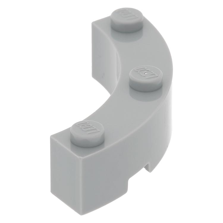 4 x lego 48092 Brick 1//4 Circle Grey Grey Brick round Corner 4x4 New New