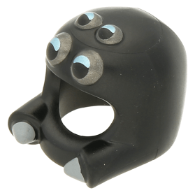 Lego Metallic Silver Minifig Headgear Fire Helmet HP#118