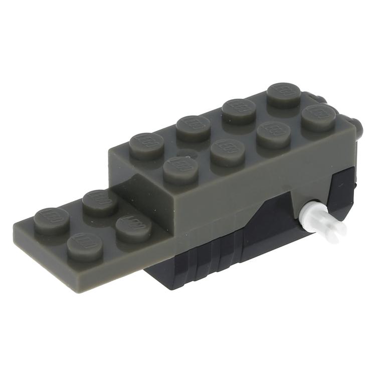Lego Part 41861c01 Dark Gray Pullback Motor 6 X 2 X 1 23 With