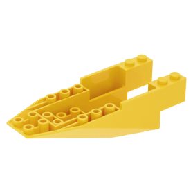 LEGO Yellow 11 x 4 x 2 2//3 Inverted Slope Space Cockpit Piece