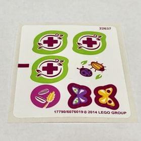 10868//6008007 Lego Sticker Sheet for Set 6873