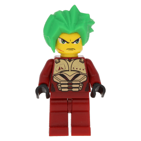 Takeshi MINIFIG // MINI FIGURE LEGO Exo-Force Dark Red Outfit