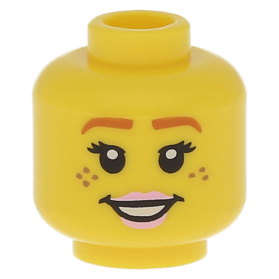 Head w// Savage Opress Black Yellow Zabrak Pattern Minifig LEGO STAR WARS