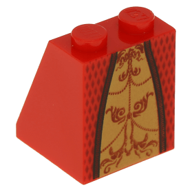 Lego New Dark Red Slope 65 2 x 2 x 2 with Bottom Tube with Layered Dress Skirt