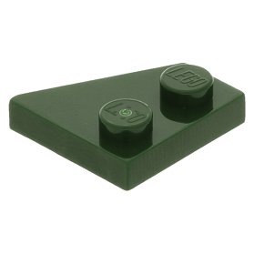LEGO Pair of Dark Green 10x3 Airplane Space Wedges