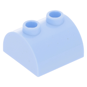 Lego 5 New Trans-Light Blue Slope Curved 2 x 2 Lip No Studs Sloped Pieces