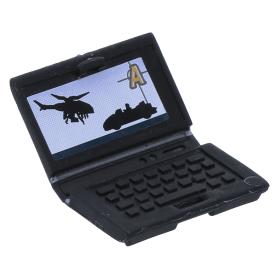 LEGO NEW BLACK MINIFIGURE LAPTOP COMPUTER UTENSIL PIECE