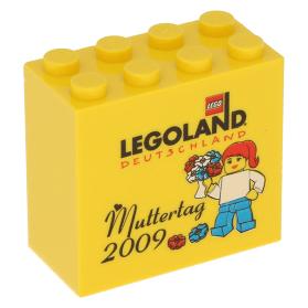 LEGO Yellow Brick 2 x 4 x 3 with Legoland Deutschland Star Wars Tage 2009 Promo