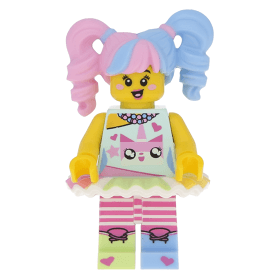 Lego Minifigure Coltlnm20 N Pop Girl From The Lego Ninjago Movie Minifig Only Entry No Stand No Accessories At Brickscout