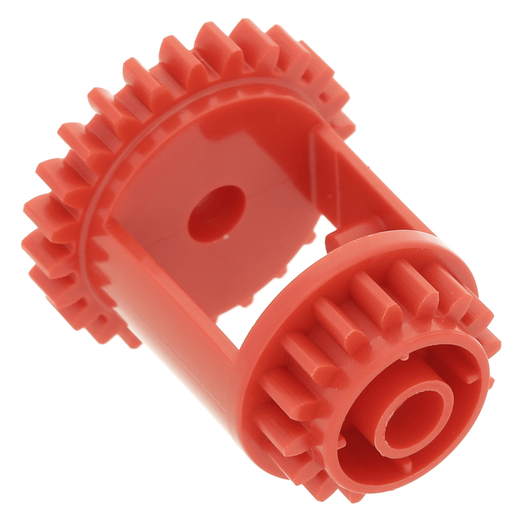 LEGO part 6573 - Red Technic, Gear Differential, 24-16 Teeth at BrickScout