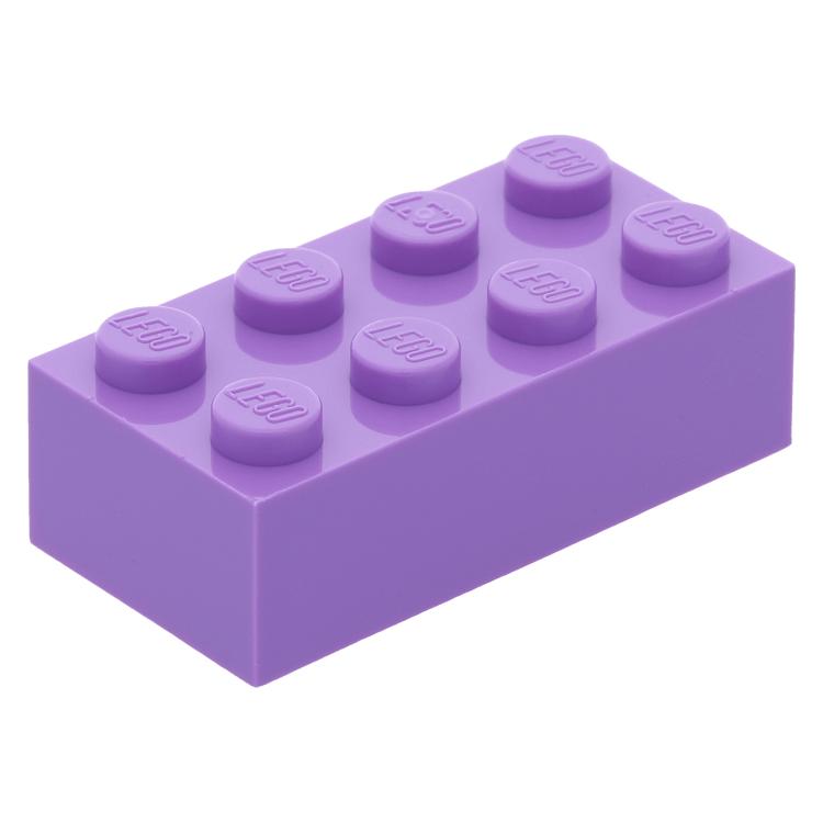 lego part 3001 medium lavender brick 2 x 4 at brickscout. Black Bedroom Furniture Sets. Home Design Ideas