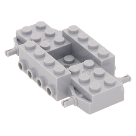 Base 4 x 10 x 2//3 with 4 x 2 Recessed Center Lego Light Gray Vehicle